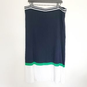 NWT pleated color block skirt